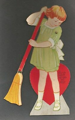 Vintage Valentine's Card - Carrington Co. Chicago - Movable Stand-up Card