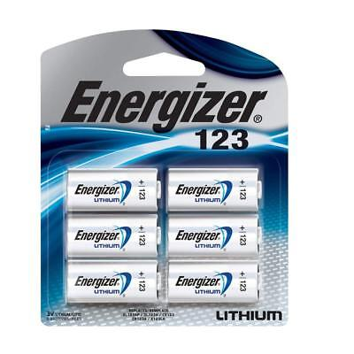 6 Energizer CR 123 3v Lithium Batteries DL123 123 EL123 (Sealed Pack) FRESH DATE