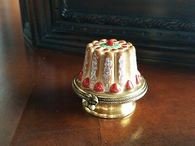 Cherry Tort Cake Rochard Limoges Trinket Box Peint Main France Artoria