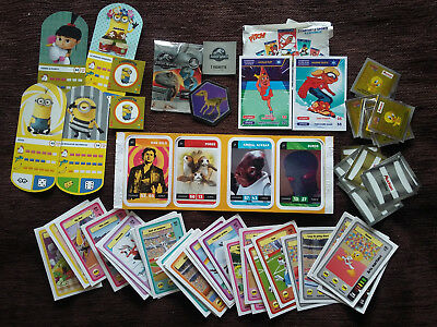 Lot 32 Cartes Collection ❤️ Star Wars ❤️  Les Minions Jurassic World Pitch Tunes