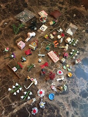 Mixed Lot Of Tiny Dollhouse Miniature And Other Miscellaneous Items