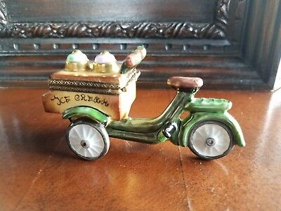 IIce Cream Truck Rochard Limoges Trinket Box Peint Main France Artoria