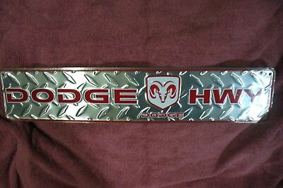 New Dodge Ram Highway Plate Display Sign Garage Man Cave Game Room Accessory