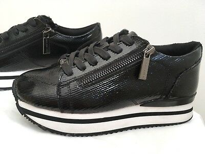 Girls Fornarina Sneakers Trainers Pumps Black Glitter Size UK (adult)2.5 RRP £89