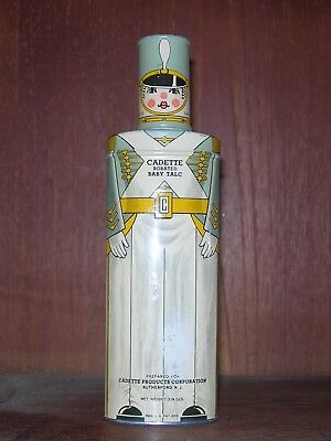 Cadette Borated Baby Talc Figural Tin Soldier Design Full