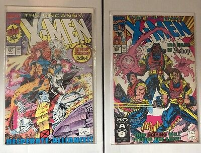 UNCANNY X-MEN 2 Book Lot - 281 & 282 - First Appearance Bishop - Free Shipping