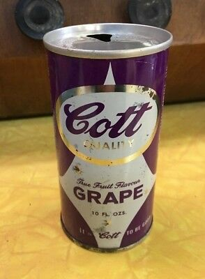 vintage COTT GRAPE 10 oz soda pop can