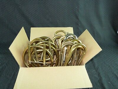 Lot of 17 pieces of tubing for brass instruments, 2 different styles