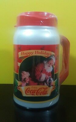 Brand New Coca Cola 44 oz Auto King Travel Cup Christmas Happy Holidays