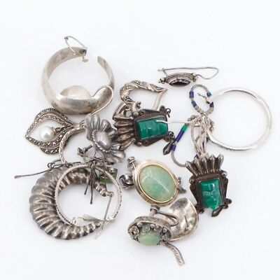 VTG Sterling Silver - Lot of Assorted Mixed Jewelry REPAIR /SCRAP - 51.5g