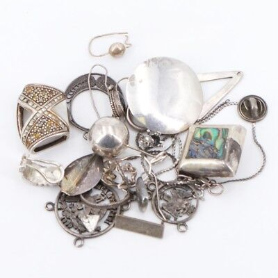 VTG Sterling Silver - Lot of Assorted Mixed Jewelry REPAIR /SCRAP - 51g