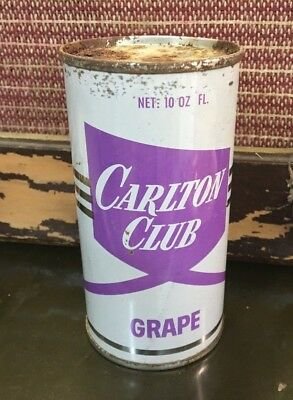 vintage CARLTON CLUB GRAPE 10 oz soda pop can
