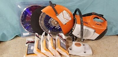 STIHL TS420 Cutquik Gas Cut-Off Saw With lots of *Extras! Runs Great* No Reserve