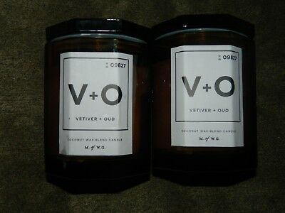 Lot Of 2 M W G Makers Wax Goods 11 3 Oz Each Candle