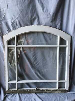Antique 9 Lite Semi Arched Dome Top Window Sash Shabby Cottage Vtg 33x34 110-18C