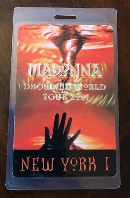 Madonna Drowned World Tour 2001 new york 1 Backstage Pass Perri