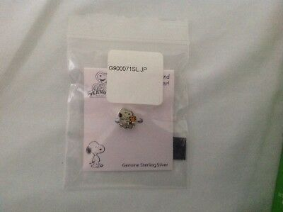 "Peanuts Snoopy Woodstock Genuine Sterling Silver Charm ""Best Friend Ever"" NWT"