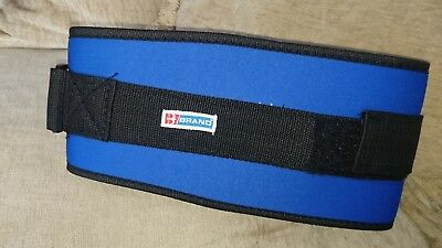 "Weightbelt Velcro Back Support Size L 38"" To 47"" Gym Work"