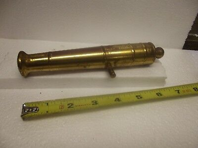 Vintage Solid Brass Toy Cannon Barrel about 7 inches