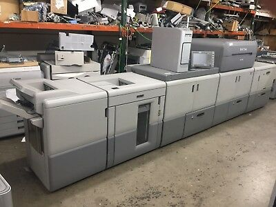 Ricoh Pro 9100 Color Printer, Copier, Low Meter W/stacker, Finisher, Fiery & Pod