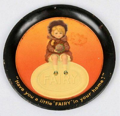 ca1910 FAIRY SOAP TIN LITHOGRAPH ADVERTISING TIP TRAY CHANGE TRAY GAY INTEREST