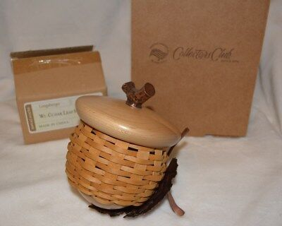 Longaberger Collectors Club Acorn Basket and Stand - New!!!