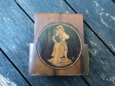 INCOMPLETE, INLAID 19th C., ITALIAN, SORRENTO WARE, TRAVELLING POCKET WATCH CASE
