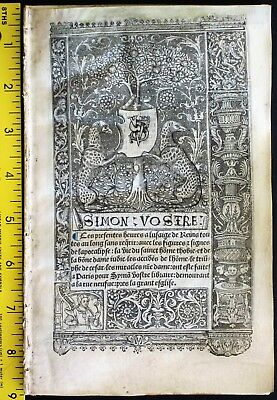 1st Quire,BoH,Vellum,Calendar,large Miniatures,Printer Mark,Simon Vostre,c.1512