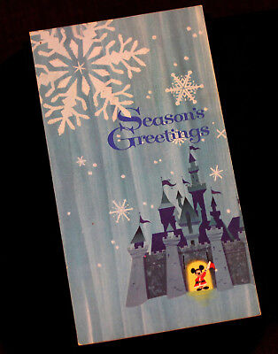 1965 Walt Disney and Staff Christmas Card Sleeping Beauty Castle 1966 Calendar