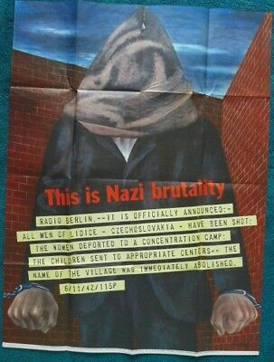 Rare Original U.S. Government WWII Poster This Is Nazi Brutality By Ben Shahn