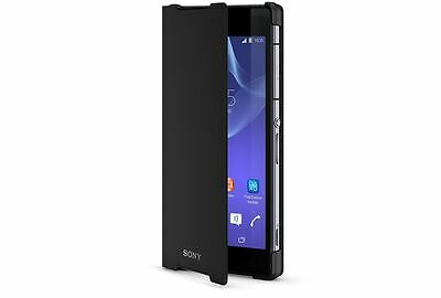 Genuine Sony SCR10 Flip Wallet Stand Case Cover Stand For Xperia Z2 Black