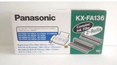 Panasonic KX-FA136A (++Models) Genuine Replacement Film in Box - 2 rolls