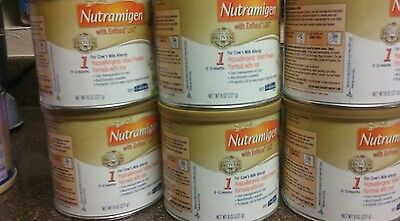 Nutramigen Baby Formula With Enflora LGG Powder 8oz cans. Lot of 7 cans