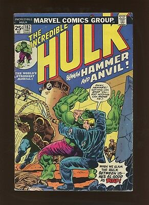 Incredible Hulk 182 Qualified GD/VG 3.0 * 1 Book Lot * 1st Hammer & Anvil!