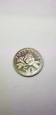 1995 Singapore 50 Cent Coin