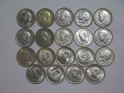 Great Britain Three Pence Silver Type Mixed Date Old World Coin Collection Lot
