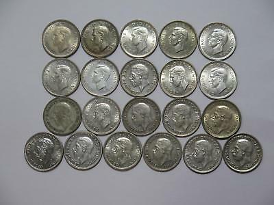 Great Britain Six Pence Silver Type Mixed Date Old World Coin Collection Lot