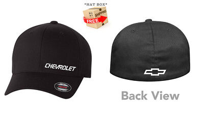 d87af58b8 FELIX CHEVROLET EMBROIDERED Flexfit Black Wool Blend Flat Bill ...