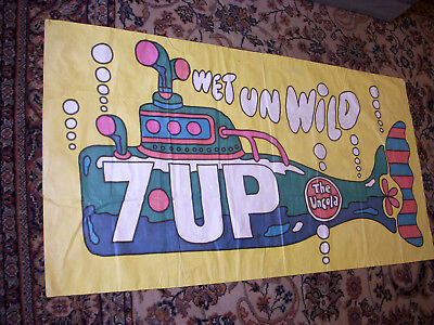 7Up Psychedelic Submarine Poster Rare !! the Uncola,  Great Graphics !!!