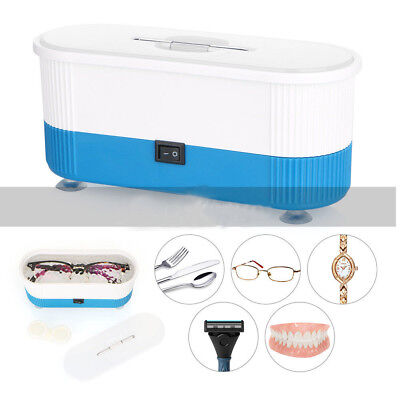 Ultrasonic Jewelry Cleaner Denture Eye Glasses Coins Silver Cleaning Machine New