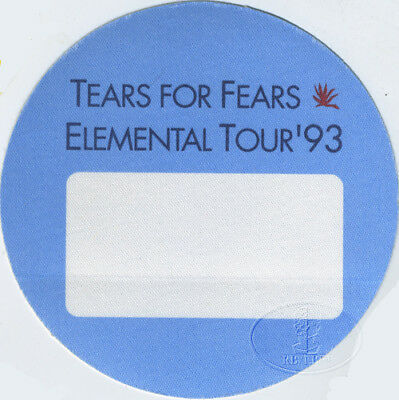 TEARS FOR FEARS 1993 Tour Backstage Pass