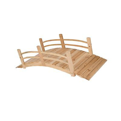 Shine Company Cedar Garden Bridge, 6-Foot, Natural 6 Ft.