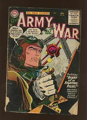 Our Army At War 45 GD 2.0 * 1 Book Lot * DC War! Ross Andru!