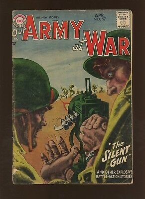 Our Army At War 57 VG 3.5 * 1 Book * DC War! Joe Kubert! Russ Heath! Ross Andru!