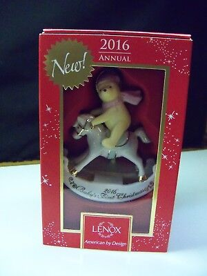 Lenox 2016 Winnie The Pooh Baby's First 1st Christmas Ornament Brand New in Box