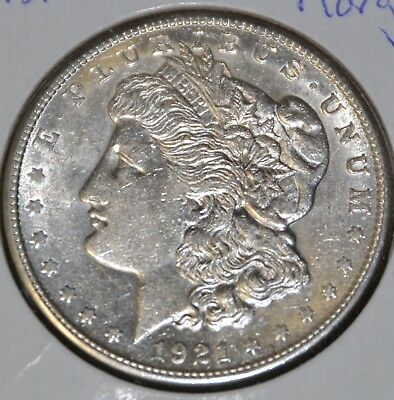 1921-S AU Almost Uncirculated MORGAN SILVER DOLLAR $1 COIN