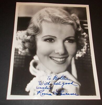 Rosina Lawrence Hand Signed Photo...Silent+Early Sound Actress