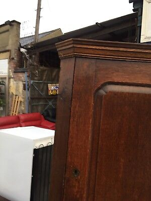 Antique Georgian Oak Wall Hanging Corner Cabinet Cupboard