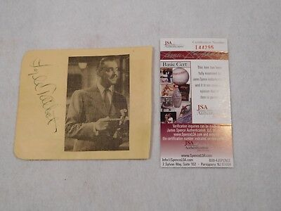 Lyle Talbot Signed Album Page-Ozzie and Harriet Show-JSA Authentication