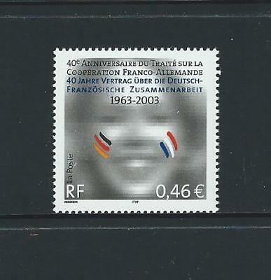 2003 FRANCE 40th Anniversary Franco German Co-operation Treaty MNH (Scott 2930)